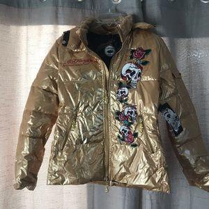 Ed Hardy down jacket NWT